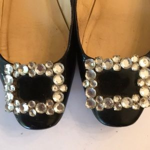 kate spade Shoes - KATE SPADE black patten leather shoes w/buckle